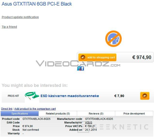 Aparecen filtradas en tiendas la Nvidia GTX TITAN Black y la GTX 790 de doble GPU, Imagen 3