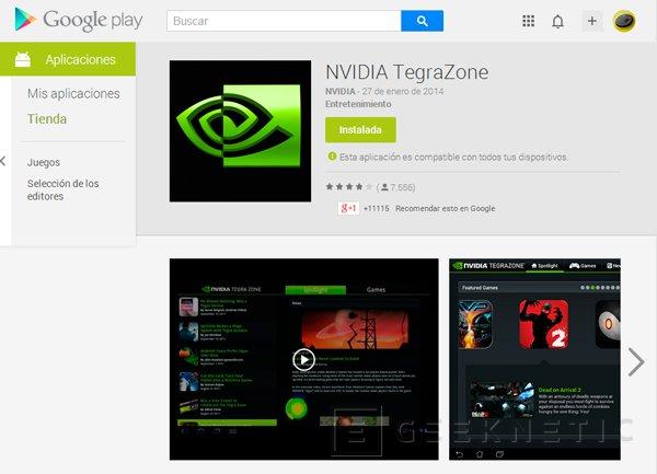 NVIDIA TegraZone ya es accesible desde cualquier dispositivo Android, Imagen 1