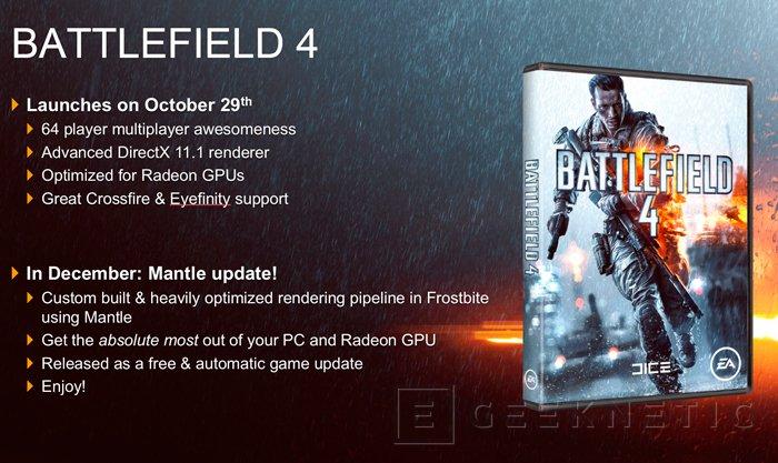 Ya disponible el soporte para MANTLE de AMD en el Battlefield 4, Imagen 1