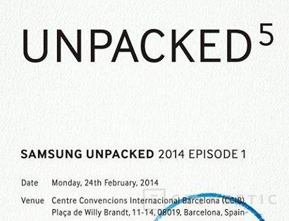 Samsung anuncia un evento para el 24 de febrero que huele a Galaxy S5, Imagen 1