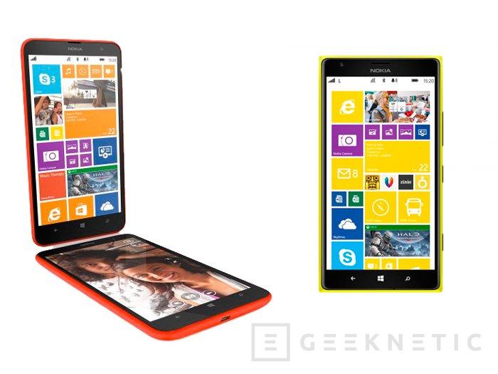 Llegan a España los Lumia 1520 y 1320, los smartphones más grandes de Nokia, Imagen 1