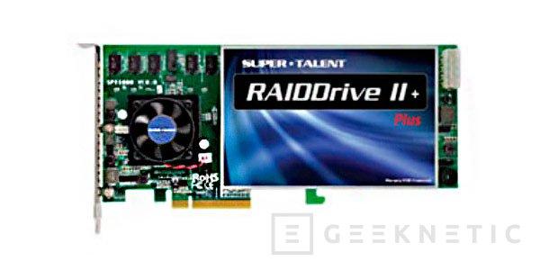 Super Talent RAIDDrive II Plus, nuevo SSD con interfaz PCI Express, Imagen 1