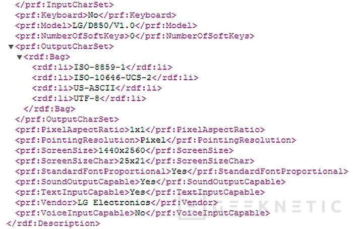 Una nueva filtración apunta a que el nuevo terminal de LG tendrá pantalla 2K, Imagen 1