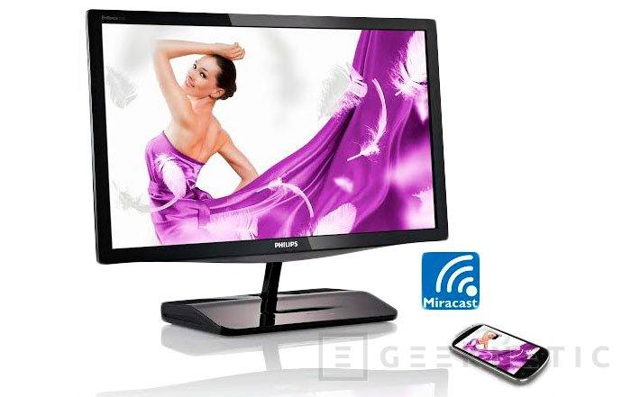 El nuevo monitor de Philips incluye la tecnología inalámbrica Miracast, Imagen 2