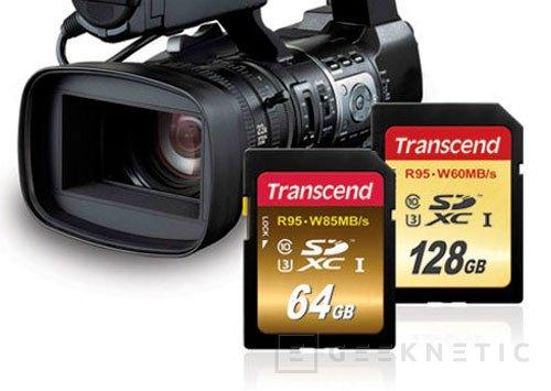 Nuevas tarjetas SDXC de Transcend de alta velocidad para grabación 4K, Imagen 1