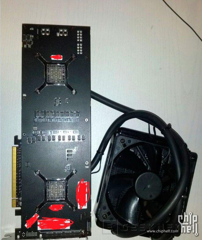 Filtradas las primeras imágenes de la AMD Radeon R9 295X2 de doble GPU con refrigeración líquida, Imagen 2