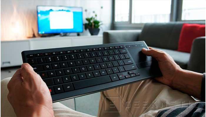 Logitech lanza sus nuevos teclados K830 con la mente puesta en los PC de salón, Imagen 3