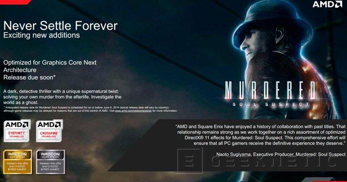 AMD renueva los juegos que ofrecen gratis en su promoción Never Settle Forever, Imagen 1