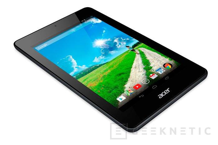 Acer va a por todas lanzando su tablet Iconia One 7 por menos de 140 Euros, Imagen 1