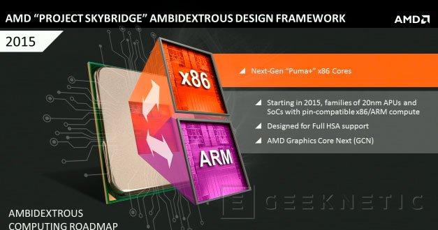 AMD lanzará sus propios procesadores ARM con la plataforma SkyBridge, Imagen 1