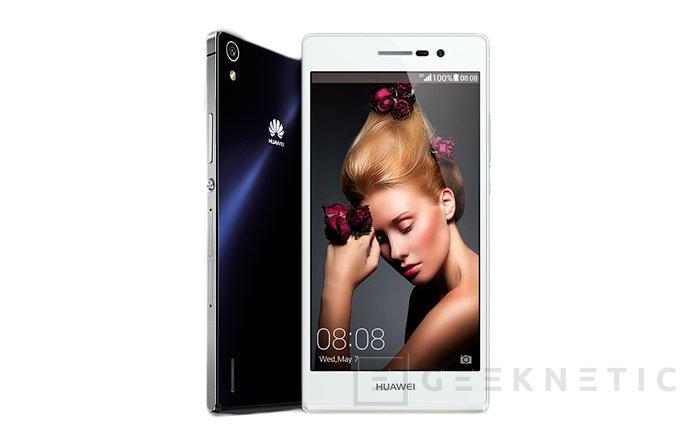 Huawei presenta su nuevo smartphone Ascend P7 con cuerpo de cristal, Imagen 1