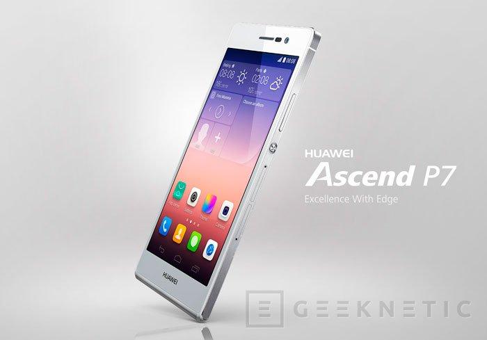 Huawei presenta su nuevo smartphone Ascend P7 con cuerpo de cristal, Imagen 2