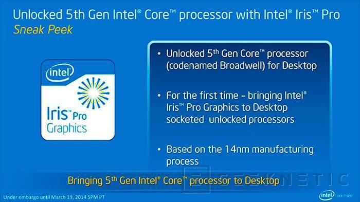 Intel asegura que Broadwell llegará antes de acabar el año, Imagen 1