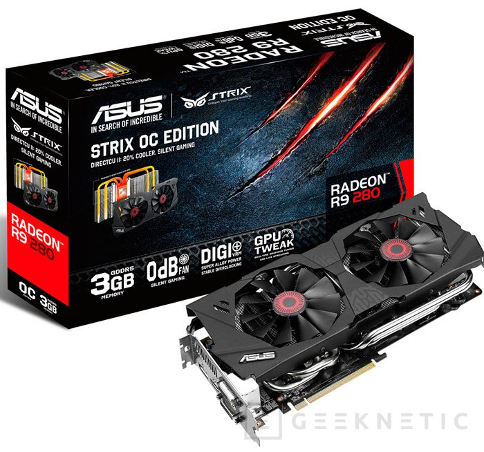 ASUS también añade una Radeon R9 280 con overclock a la familia STRIX, Imagen 1
