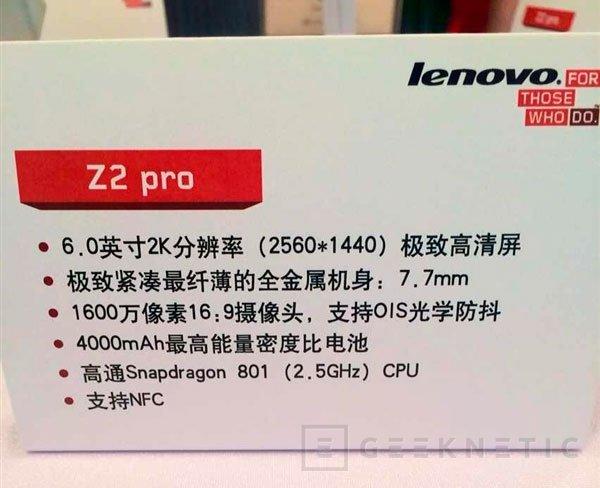 Se filtra el Lenovo Vive Z2 Pro, un terminal con pantalla de 2560 x 1440 y 4000 mAh de batería, Imagen 2