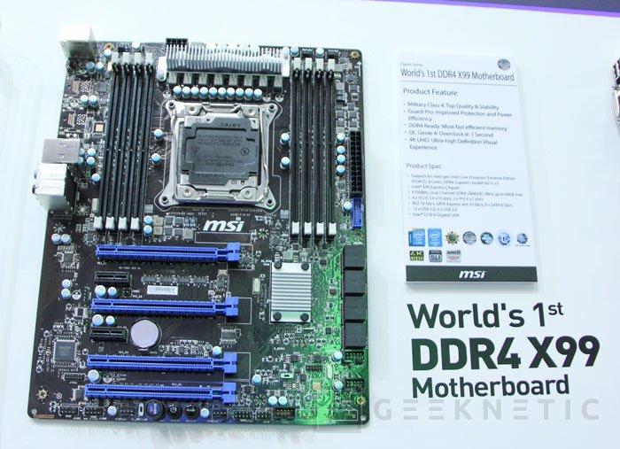 MSI muestra la primera placa base X99 con DDR4, Imagen 1