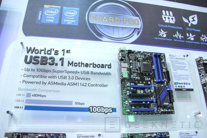MSI también nos muestra la primera placa con USB 3.1, Imagen 1