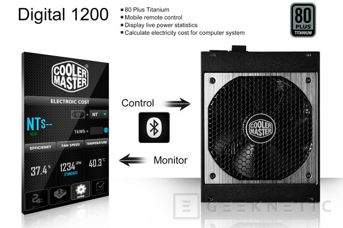 Cooler Master Digital 1200, una fuente que puedes controlar con el smartphone, Imagen 1