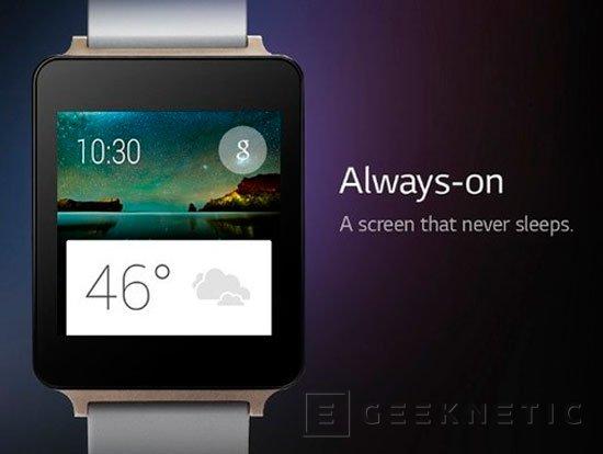 Desveladas las especificaciones del LG G Watch, Imagen 2
