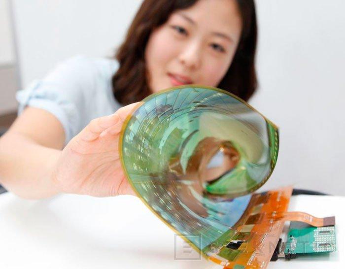 LG muestra un panel de 18 pulgadas flexible y transparente, Imagen 1
