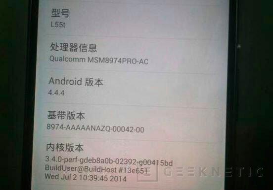 Se filtran las especificaciones del Sony Xperia Z3, Imagen 2
