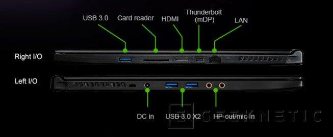 La nueva workstation portátil MSI WS60 tiene menos de 2 centímetros de grosor, Imagen 3
