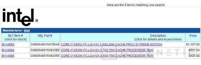 Aparecen para reservar los procesadores Intel Haswell-E de 6 y 8 núcleos, Imagen 1