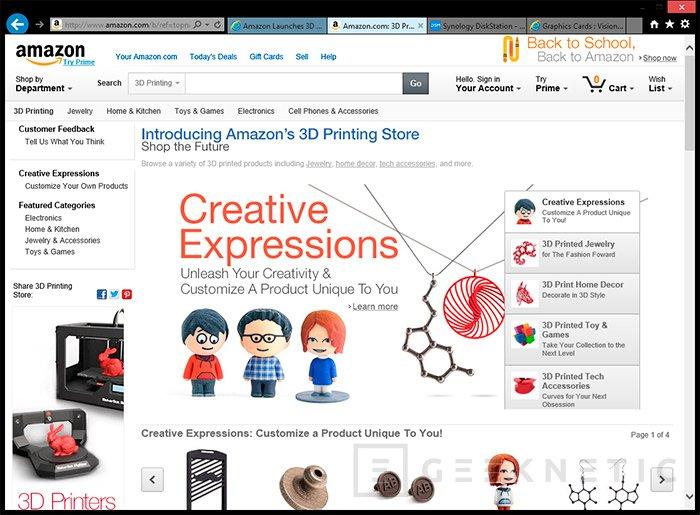 Amazon lanza una tienda de impresión 3D, Imagen 1