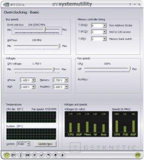 System Utility para overclocking con nVidia, Imagen 2