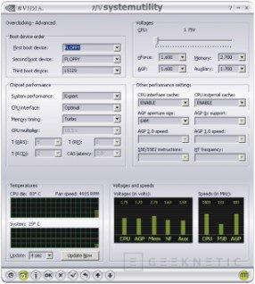 System Utility para overclocking con nVidia, Imagen 3