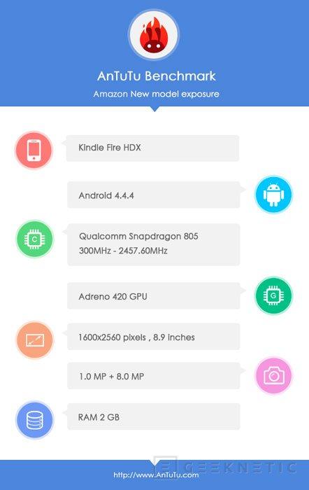 Se filtra una nueva versión del Kindle Fire HDX con un Snapdragon 805, Imagen 2