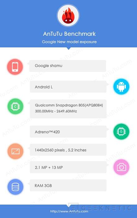 Se filtran los detalles del posible Nexus 6