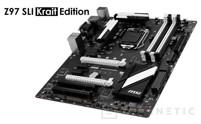 MSI tiñe de negro su placa Z97 SLI Krait Edition, Imagen 1