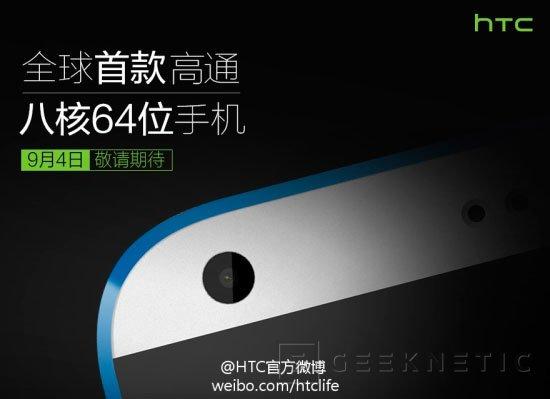 El HTC Desire 820 será el primer terminal Android de 64 bits, Imagen 1