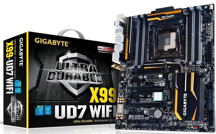 Gigabyte también muestra otra propuesta de placa base para Haswell-E, la X99-UD7 WiFi, Imagen 1