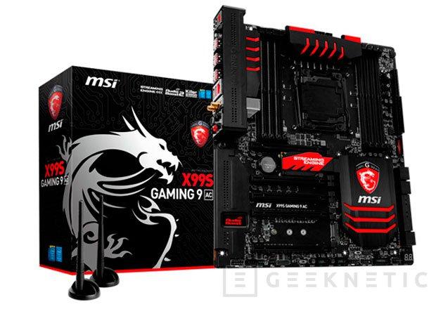 MSI presenta oficialmente su placa base X99S Gaming 9 AC, Imagen 1
