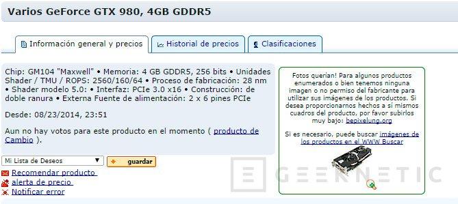 Aparecen en distribuidores las primeras Nvidia GTX 980 y 970, Imagen 1