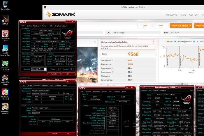 Consiguen un nuevo record de overclock poniendo a 2,2 GHz una ASUS Strix GTX 980 , Imagen 2