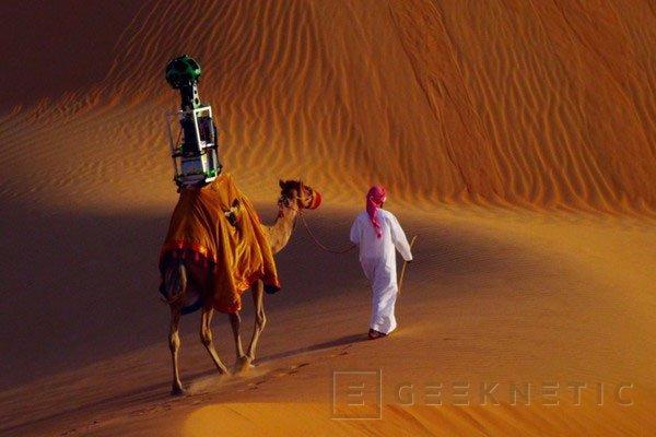 Google utiliza un camello para añadir a Street View el desierto de Liwa, Imagen 1