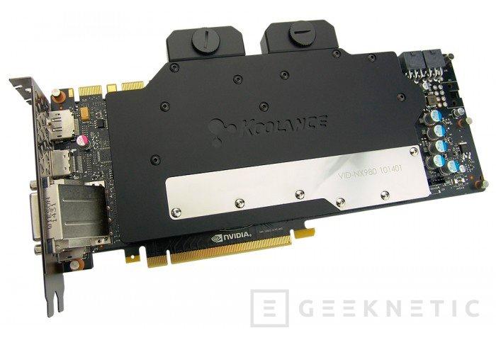 Koolance se apunta a la Geforce 980 GTX con su nuevo bloque, Imagen 2