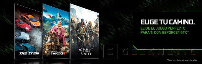 The Crew, Assassin's Creed Unity o Far Cry 4 gratis por la compra de una NVIDIA GeForce GTX de gama alta, Imagen 1