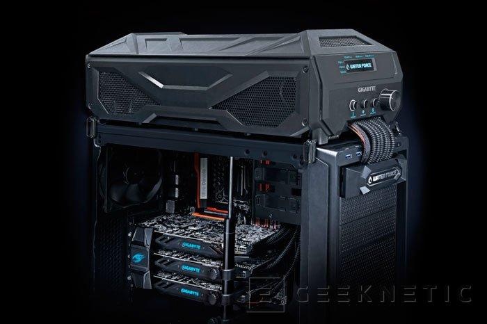 Gigabyte presenta un sistema cerrado de tres GTX 980 en SLI con refrigeración líquida, Imagen 2