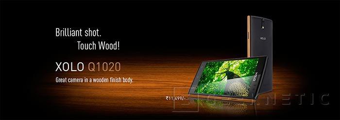 El nuevo Smartphone Xolo Q1020 incorpora un marco de madera, Imagen 2
