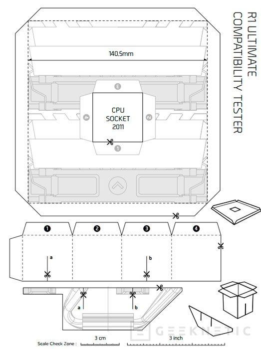 Cryorig ofrece plantillas de papel de sus disipadores para comprobar si son compatibles, Imagen 2