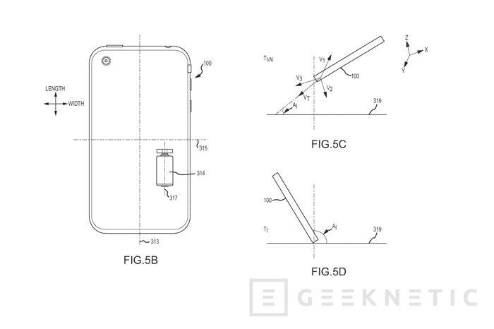 Apple patenta un sistema para rotar el iPhone durante una caída y evitar roturas, Imagen 1