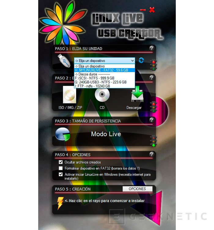 Cómo crear un disco de arranque de Linux con Linux Live USB