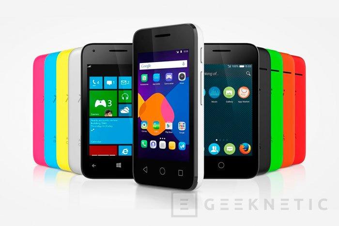 El nuevo Alcatel Pixi 3 puede funcionar con Android, Windows Phone o Firefox OS, Imagen 1