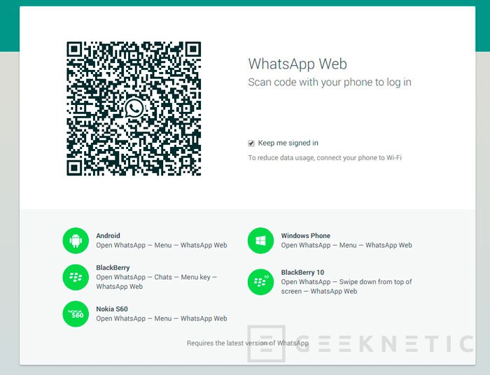 Ya disponible Whatsapp Web, Imagen 2