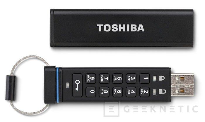 Toshiba añade un teclado a su nuevo pendrive con cifrado de datos, Imagen 1