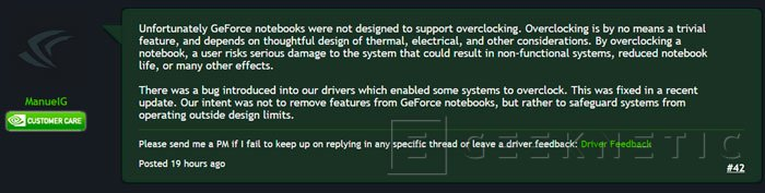 Nvidia bloquea el overclock en las GTX 900M con los últimos drivers, Imagen 1